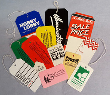 custom wholesale retail price clothing hang tags with logo