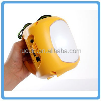Solar lantern with mobile phone charger Portable USB Hand crank Dynamo Rechargeable small USB solar LED Camping lantern