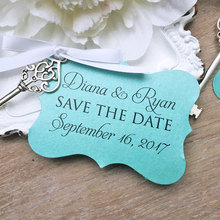 Customized Save The Date Paper Wedding Card with Personal Pictures