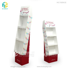 China Custom logo template advertising comic book floor cardboard display stand for promotion