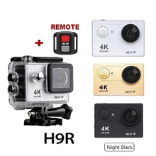 trend 2019 new Amazon underwater 4K wifi remote action camera Eken H9R with 2 battery and 21pcs go pro accessories kit
