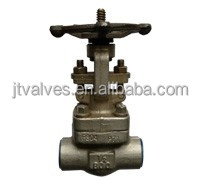 Forged SW Threaded Gate Valves Globe valves #800 #1500 OS&Y and welded bonnet API
