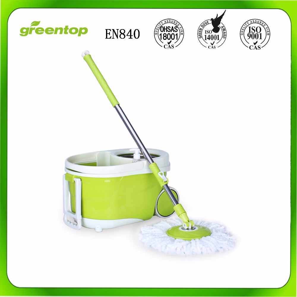 PP Mop Head Material Stainless Steel Pole Material 360 Rotate Cleaning Magic Mop