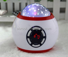 Mini portable led speaker lights support usb flash drive fm radio and EQ function