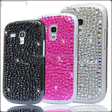 For Samsung galaxy S3 mini i8190 crystal bling diamond hard case cover