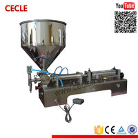 Stainless steel cream filling machine/ semi automatic labeling machine/ oil filling packaging line