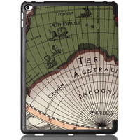 Hot selling World Map Leather smart Case for i Pad Pro with wake up and sleeping function