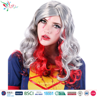china wig supplier halloween synthetic fibre cosplay party devil wig