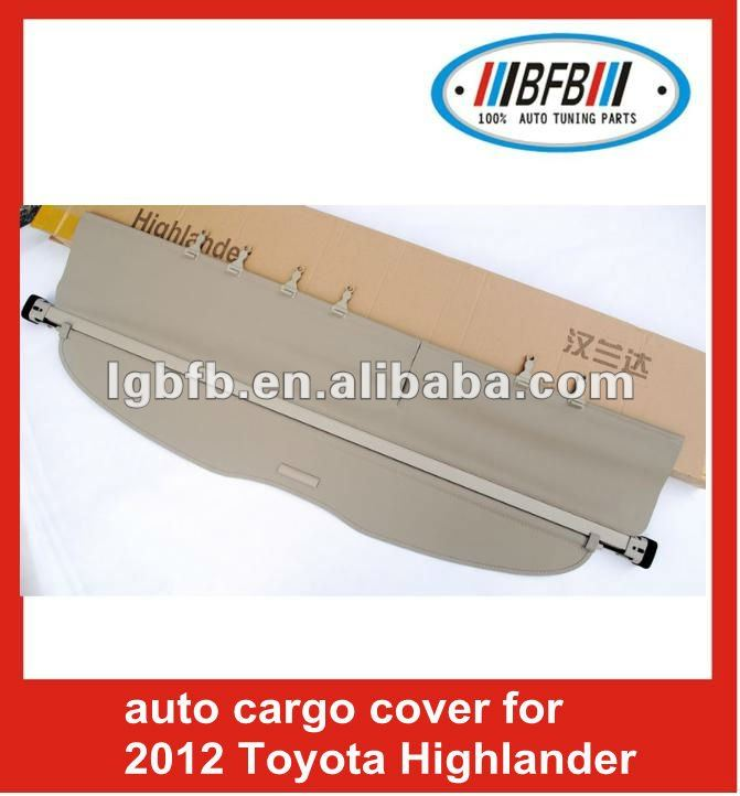 beige trunk cargo cover retractable for toyota highlander 2012