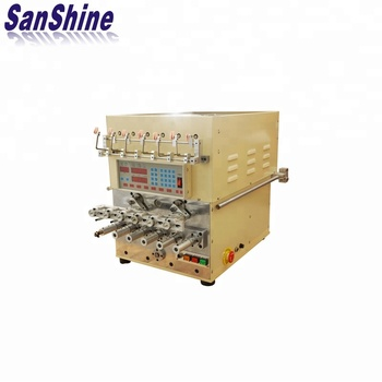 Six spindles fine wire automatic coil winding machine with wire twister