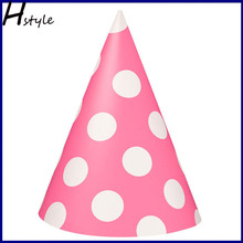 Polka Dot Party Hats (Pink) SB006