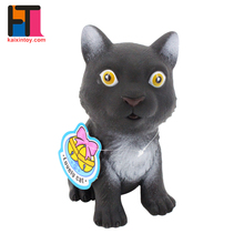 manufacturer china baby gift set soft plastic cats custom cute vinyl toy with sound