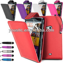 Leather flip mobile phone case cover for Nokia lumia 625