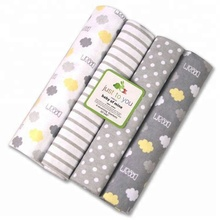 4 pack flannel infant receiving baby swaddle blanket