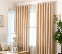 solid color jacquard curtain fabric ,grey office curtain, curtain with eyelet