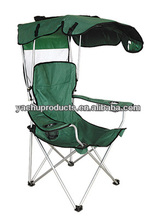 single seat folding beach chair with umbrella and coolbag