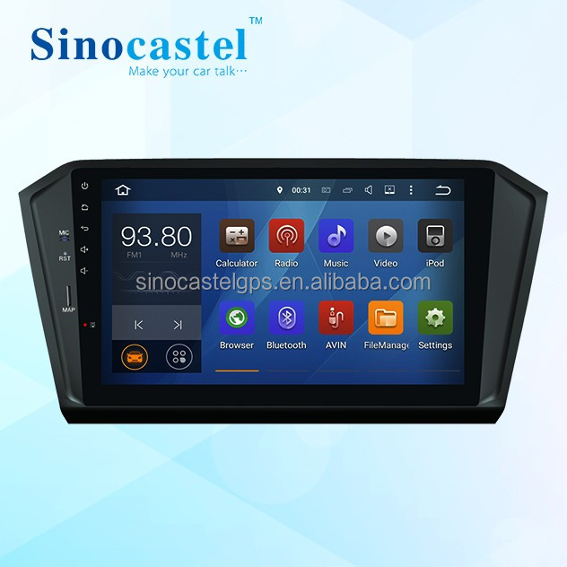 Wholesale price Android 5.1.1 Quad core Car Stereo for 1 din Volkswagen Passat B8 with OBD 16G 1024*600