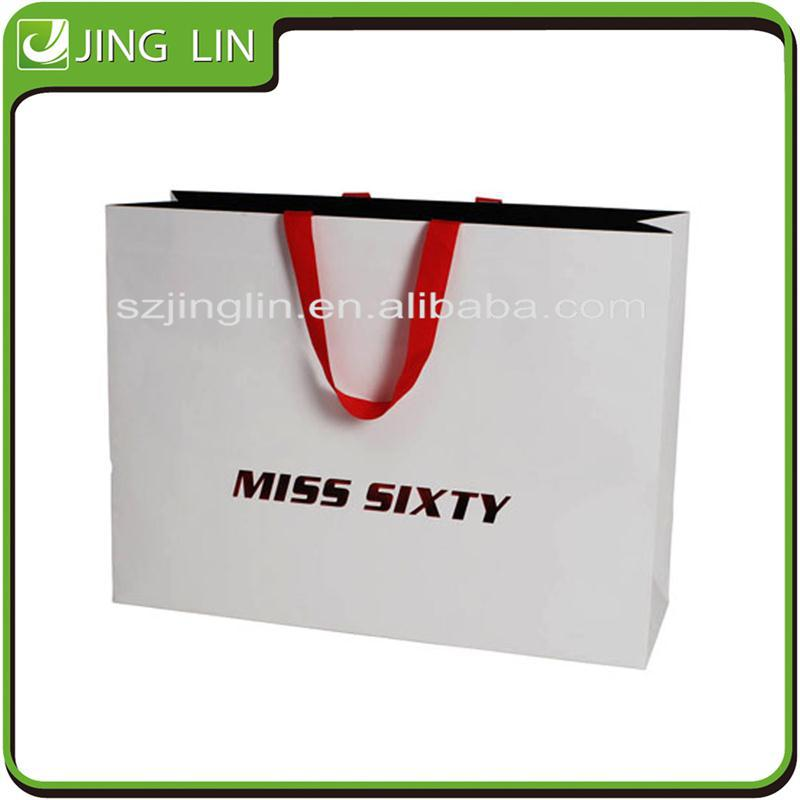 Handle white grocery market paper bag manufacturer