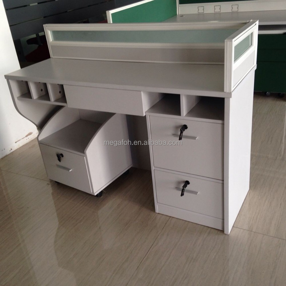 Financial services office furniture bank staff desk(FOH-BH03)