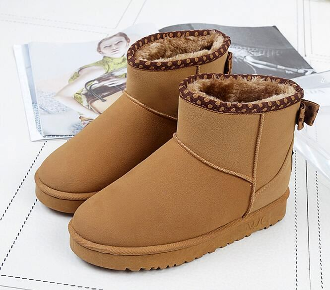 Fashion cheap girls warm fur short women outdoor winter snow boots