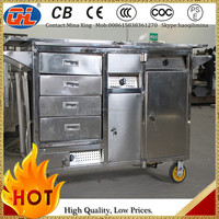 stainless steel food kiosk cart|snack cart|food trolley for sale Preferential Price Moving Cart