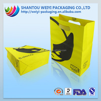 high quality biodegradable paper shopping bag with die cut handles