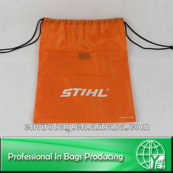 Commercial 210D Polyester Backpack Nylon Draw String Bag