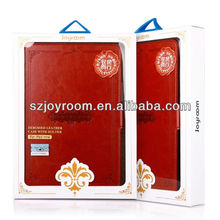 2013 factory price stand leather wallet case cover for mini ipad case