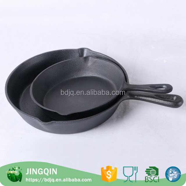 Newest cast iron sizzling steak plate fry pan