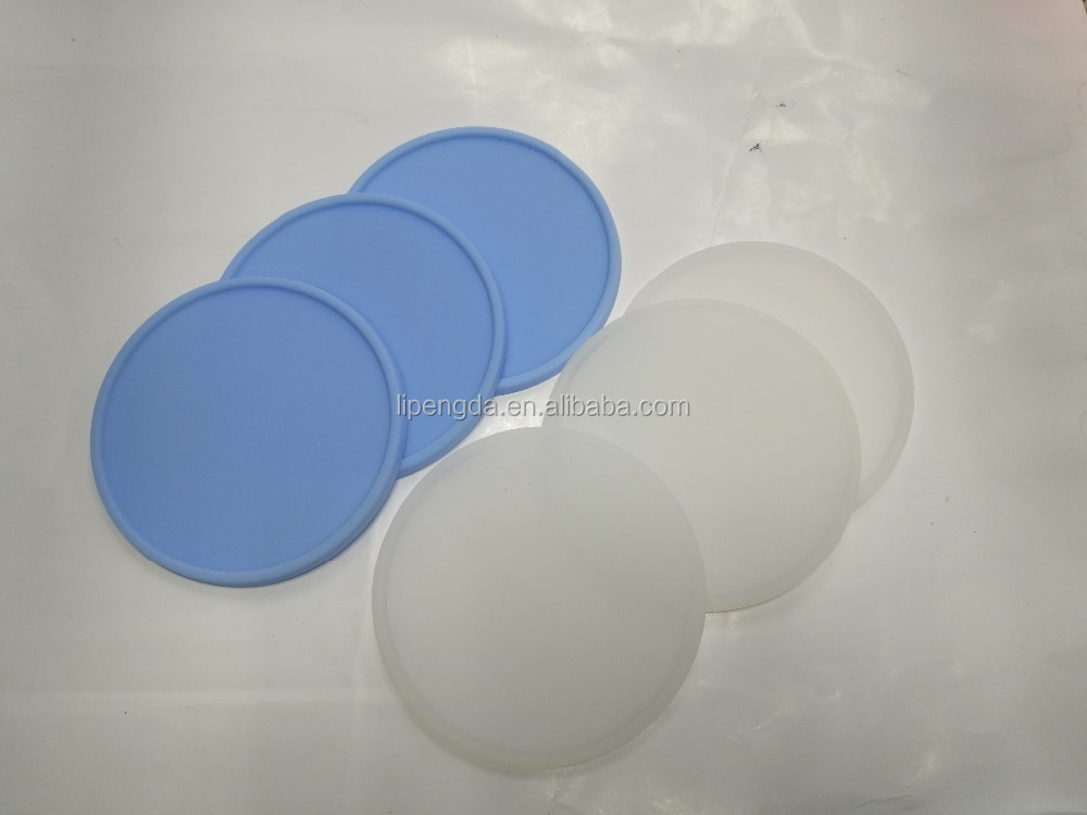 Promotional gift unique round silicone rubber tea cup coaster custom print your logo