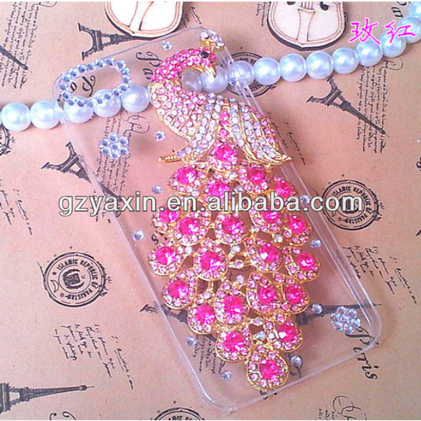 Cheap mobile phone case 2014 fashion mobile rhinestone phone case,for iphone 5 bling bling diamond case