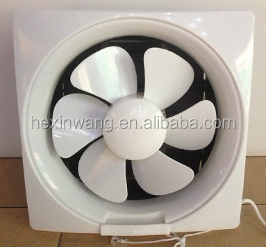 Full Plastic 6 Blades window Electronic Extractor Fans
