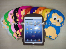 3D designed silicone case back cover for mini ipad