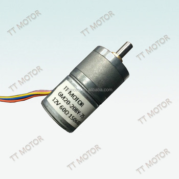 Deceleration small DC 12V GM20-20BY stepping gear motors