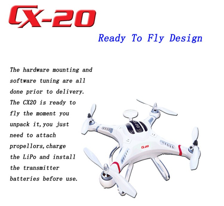 cheerson cx20 quadcopter GPS AUTO-Pathfinder drone rc quadcopter Big Fly Shark Open-source Version