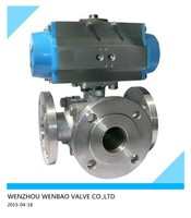Pneumatic actuator three way ball valve pneumatic valve actuator