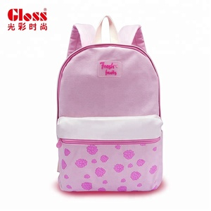 Gloss fashion kids cotton backpack ladies school girl long strap shoulder bag withleather trim custom tote china new products