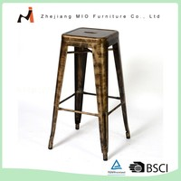 Modern style 75cm outdoor colorful powder coating metal bar stool