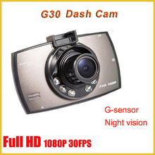 "G30 full hd 1080p car dash dvr recorder camera night vision 2.7"" lcd screen G-sensor motion detection dash cam pro"