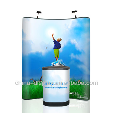 Hot sale exhibition booth, trade shows, Curve magnetic 1x3 pop up display for advertising