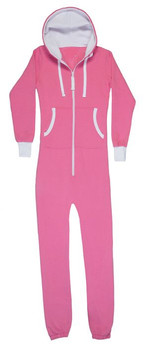 Low Price OEM Wholesale Cheap Factory Adult Unisex Solid Pink 100 Cotton Brushed Fleece Onesie