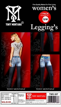 Tony montana Supersoft stretch leggings look just like skinny short jeans