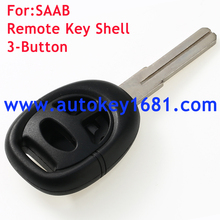 3 button remote key shell fob for saab blank 95 93 9-5 9-3 car key case cover