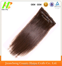 Straight/Curly Halo Wire Hidden Synthetic Hair Extensions