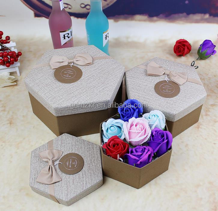 OEM/ODM Available Durable Gift & Craft Industrial Use hexagon Paper box packaging
