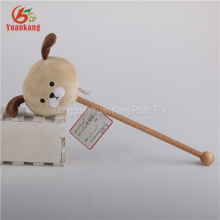 ICTI manufacturer Plush Animal dog Head Massage Hammer Stick Soft Toy