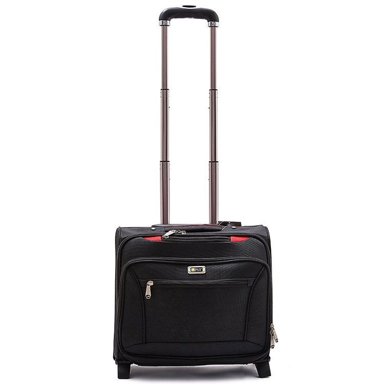 1680D Polyester Laptop Trolley luggage, suitcase with 2 stand feet