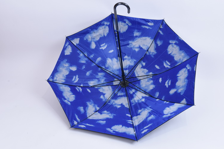 23'' double layer umbrella inside printed Blue Sky and Cloud Printing Umbrella