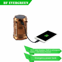 Multifunctional 3W Solar Led Camping Latern Lamp Portable Solar Outdoor Living Tent Rechargeable Led Camping Lamp
