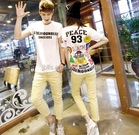 2014 printed couple's shirt